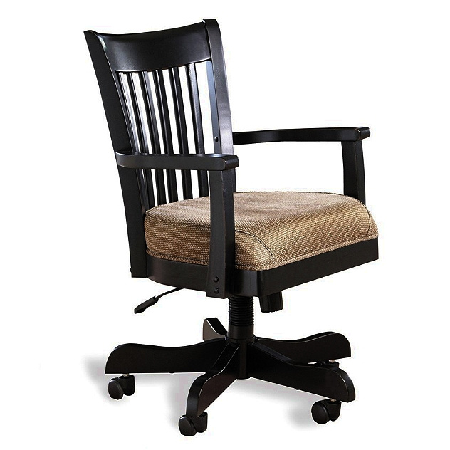 Merveilleux Antique Black Mission Wood Office Chair