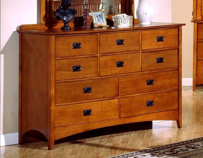 Mission Craftsman Oak 10 Drawer Dresser
