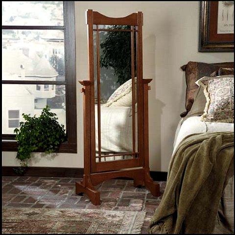 Mission Craftsman Oak Full Length Mirror