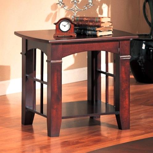 Dark Cherry Mission Craftsman Side End Table