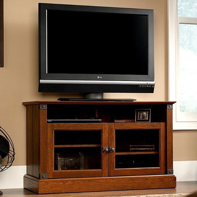 Craftsman Mission Entertainment Stand W/Wrought Iron