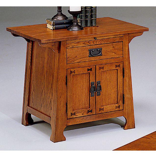 Solid Oak Craftsman Mission Side Table