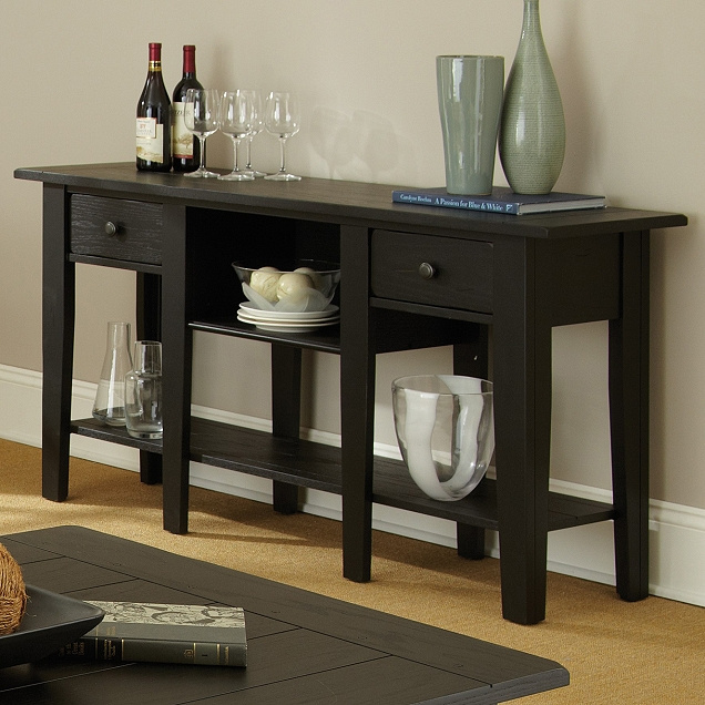 Mission Furniture Living Room - Cottage style console table