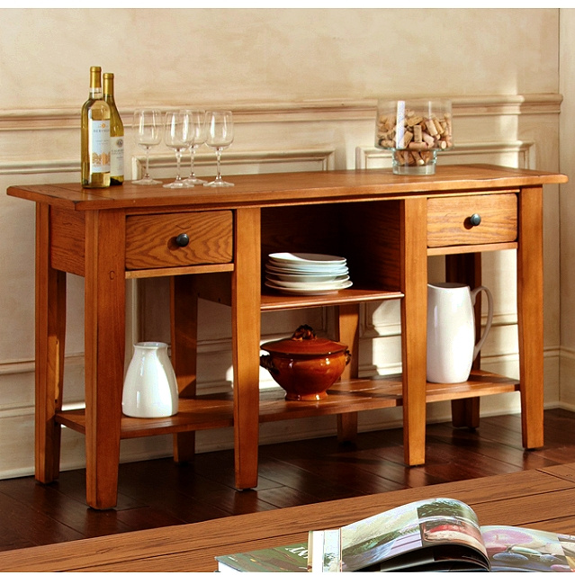 Dining Furniture Mission Furniture Craftsman Furniture - Cottage style console table