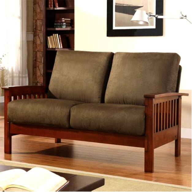Elegant Craftsman Mission Morris Hardwood Sofa