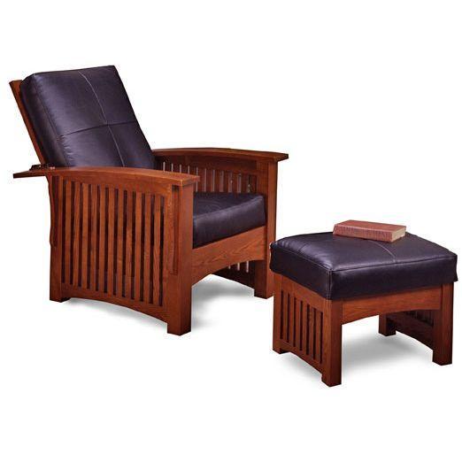 Bon Mission Craftsman Oak Deluxe Morris Recliner Chair Set