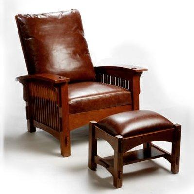 Quarter Sawn Oak Mission Morris Chair Recliner