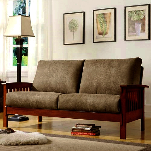 Craftsman Mission Morris Hardwood Sofa
