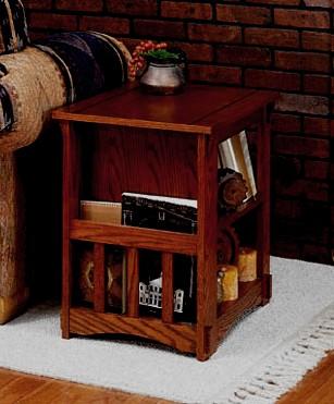Bon Craftsman Mission Oak Side End Table Magazine Rack