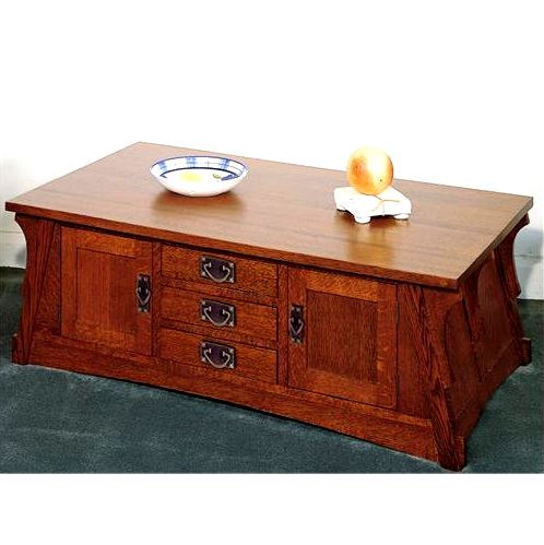 Quarter Sawn Oak Mission Craftsman Coffee Table