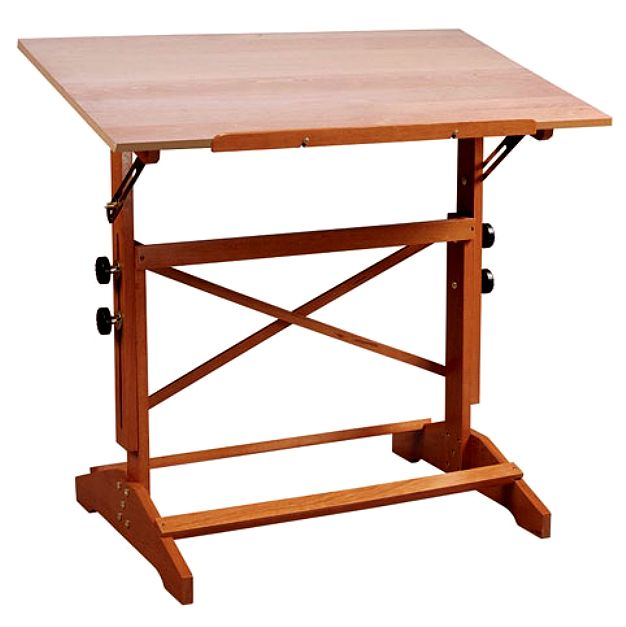 Large Solid Cedar Drafting Table