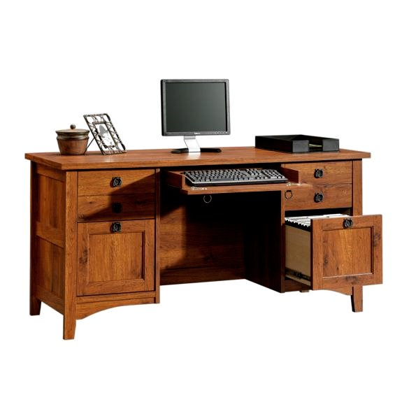 Mission Craftsman Style Computer Credenza Desk