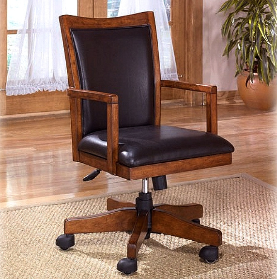 Ordinaire Mission Craftsman Oak Leather Executive Office Chair