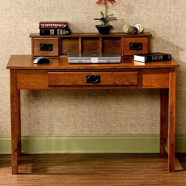 Mission Shaker Oak Computer Desk