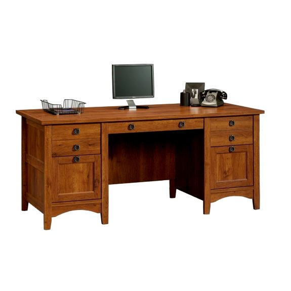 Mission Craftsman Style Executive Computer Desk