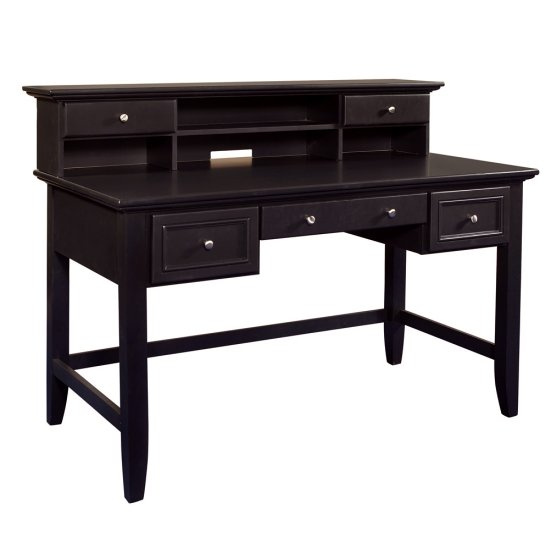 Shaker Black Computer Desk With Hutch