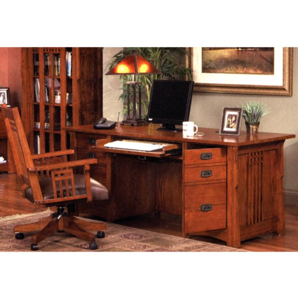 Quarter Sawn Oak Mission Craftsman Printer Stand