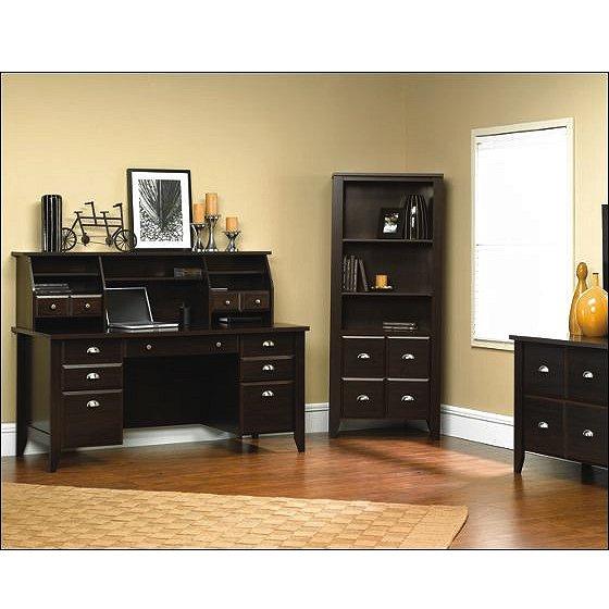 Espresso Shaker Lateral File Cabinet