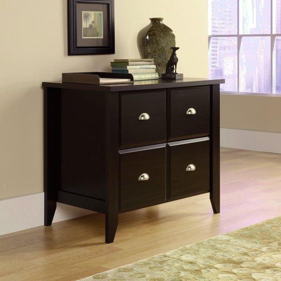 Elegant Espresso Shaker Lateral File Cabinet