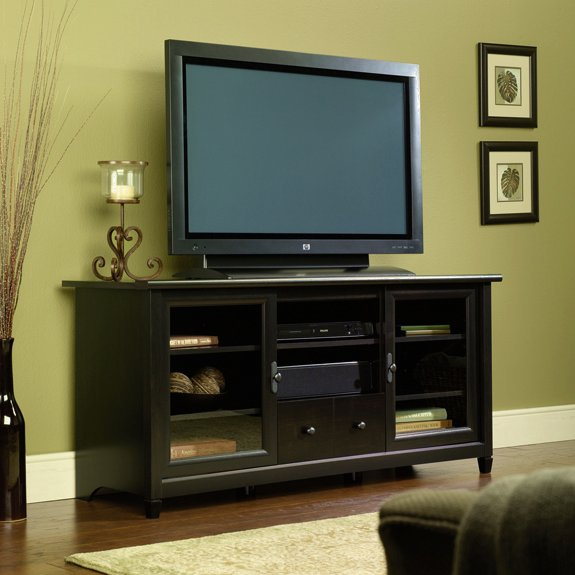 Beau Warm Black Shaker Entertainment Center