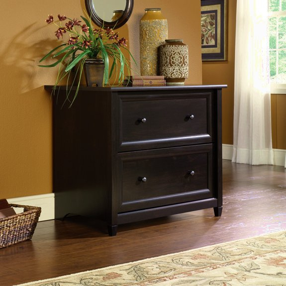 Warm Black Shaker Lateral File Cabinet