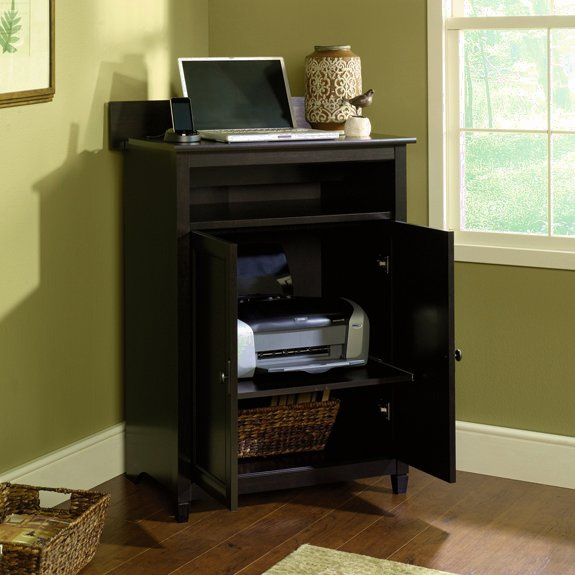 Warm Black Shaker Laptop U0026 Printer Cabinet