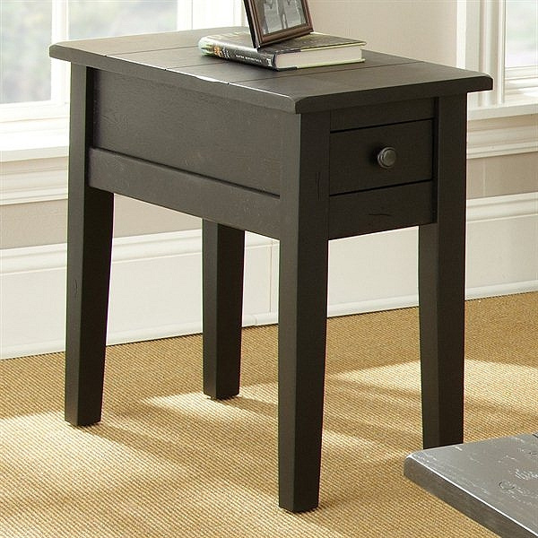 Shaker Cottage Mission Black End Table