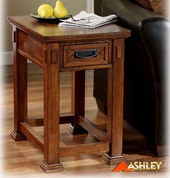 Craftsman Mission Style Oak Side End Table