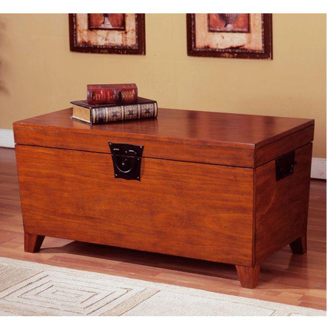 Mission Craftsman Shaker Oak Trunk Coffee Table