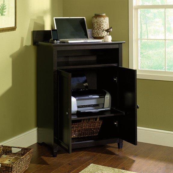 Warm Black Shaker Computer Desk W Hutch